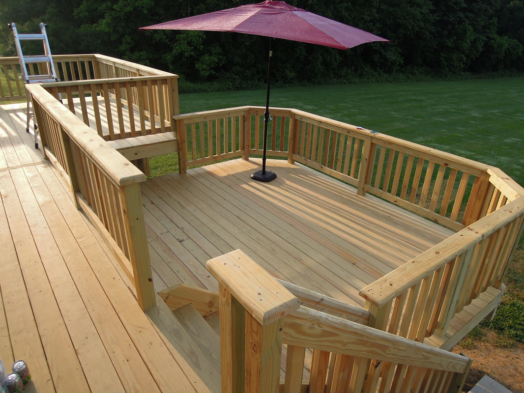 Services decks for Pressure treated decking