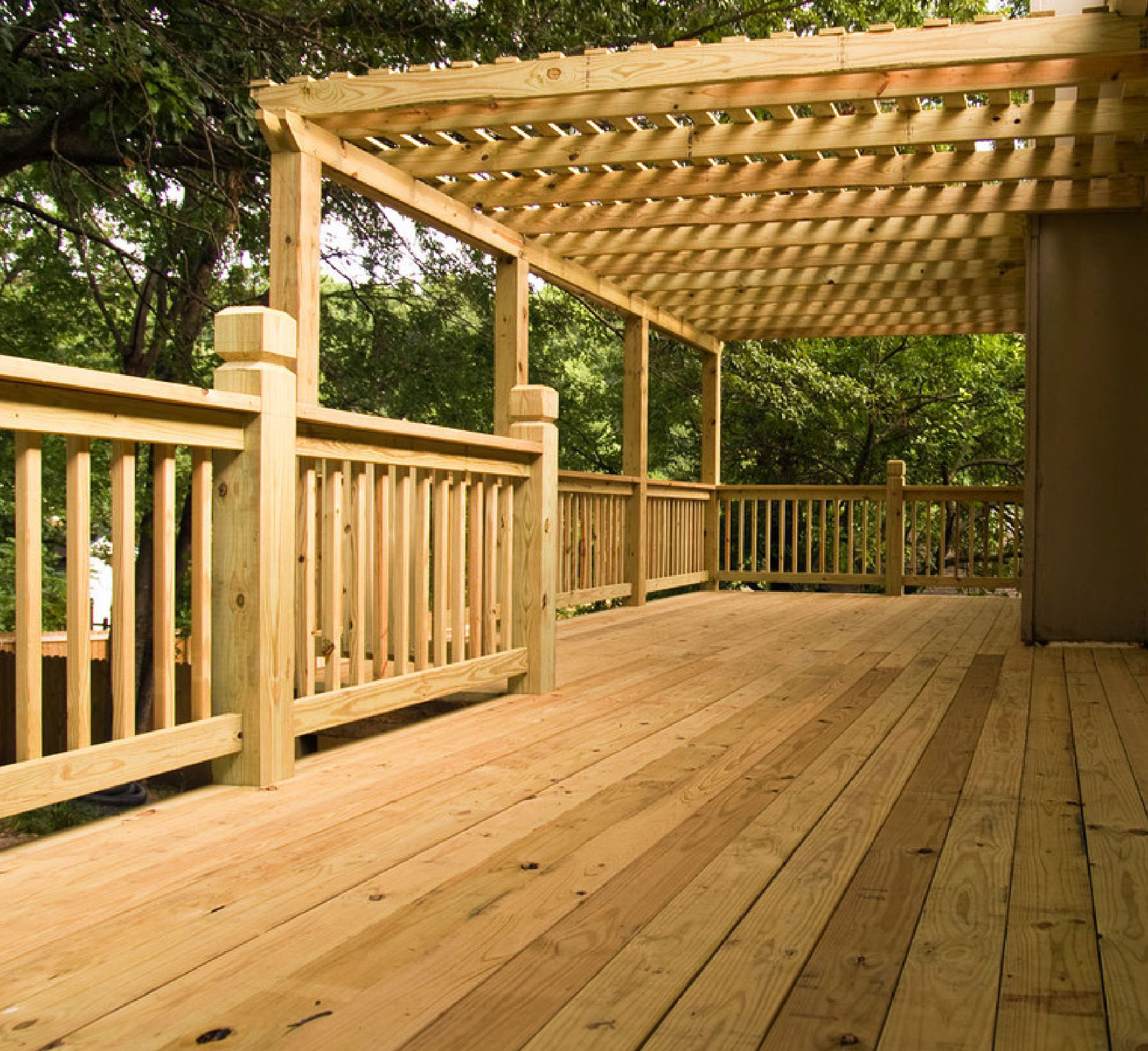 Services decks for Brown treated deck boards